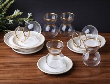 Rekabet Pazarı Lorena Porselen 12 Parça Çay Seti Renkli